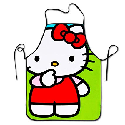 Clipart of hello kitty baking in the kitchen banner royalty free stock Amazon.com: WSXEDC Hello Kitty with White Flower Adjustable Apron ... banner royalty free stock