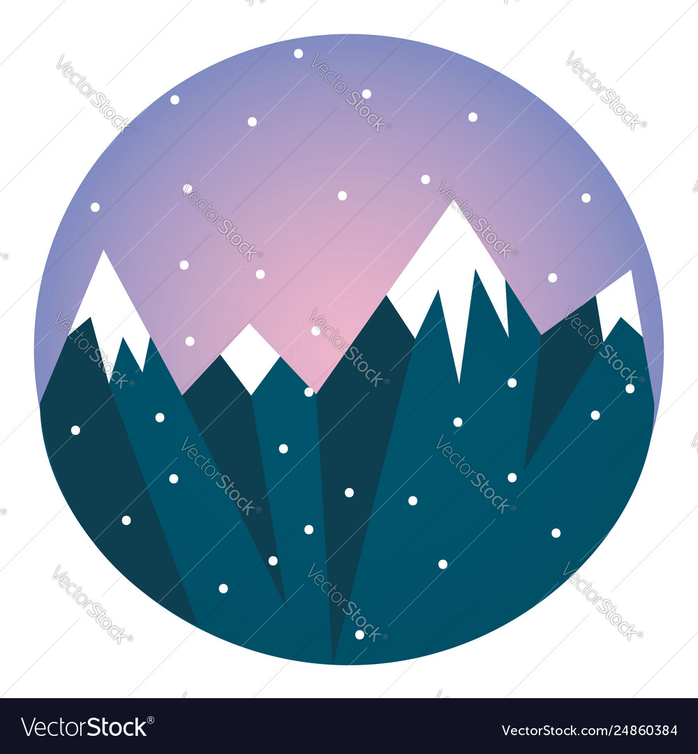 Clipart of high mountain ranges svg download Clipart a blue snow-covered mountain range svg download