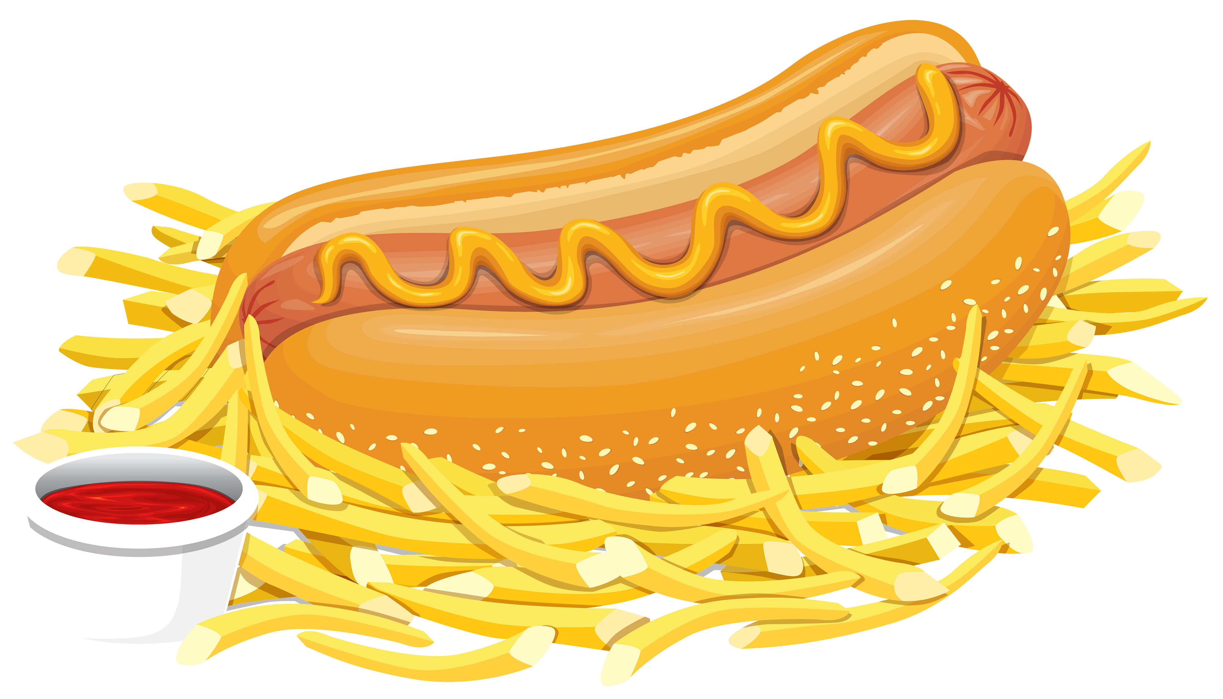 Fish fry clipart png clip art transparent Hot Dog with Ketchup PNG Clipart - Best WEB Clipart clip art transparent