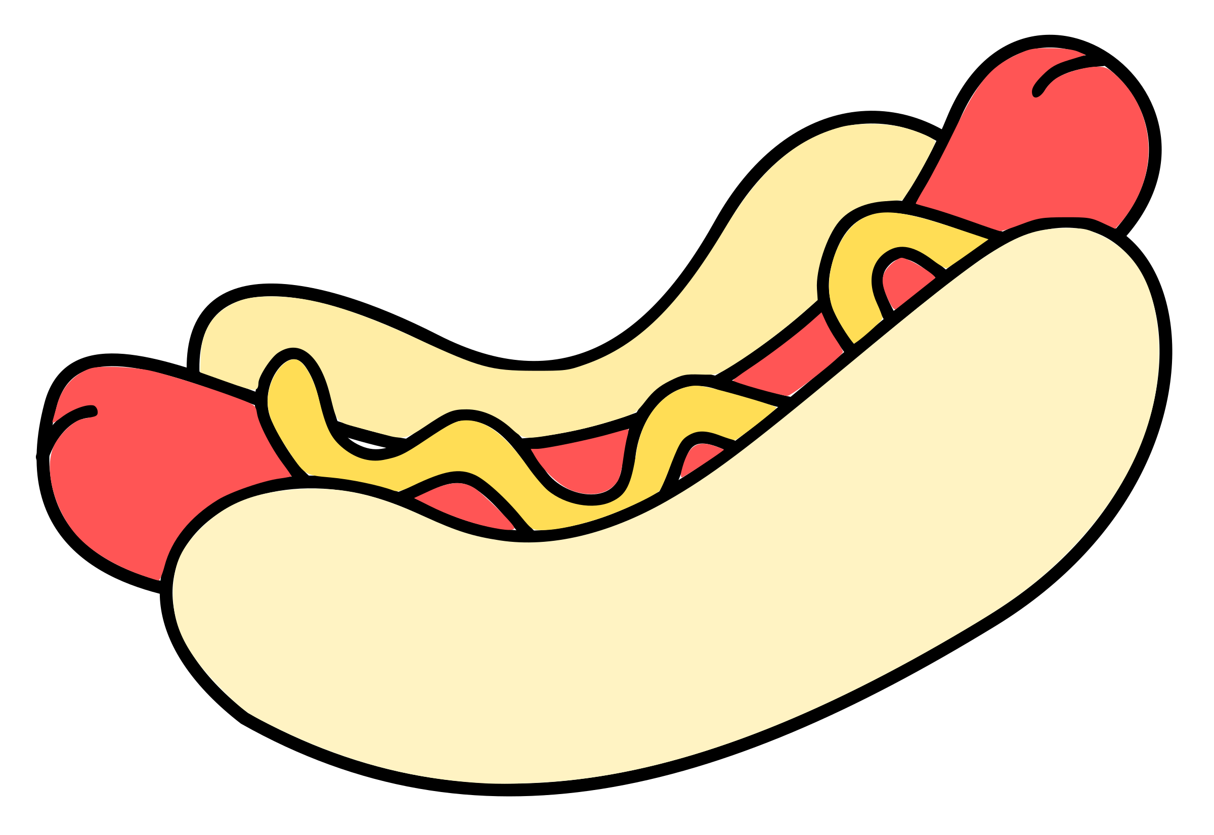 Hot dog bun clipart graphic free download Clipart - hotdog - colour graphic free download