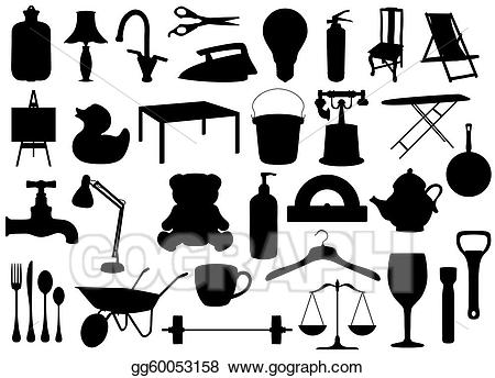 Clipart of household items banner library download Stock Illustrations - Household items. Stock Clipart gg60053158 ... banner library download