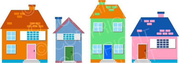 Clipart of houses and buildings vector freeuse library Village Town Houses, Building Clip Art Illustration – Prawny Clipart ... vector freeuse library