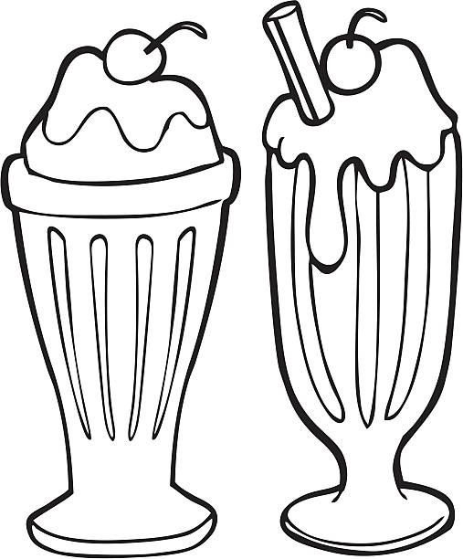 Clipart of ice cream toppings black and white picture freeuse Ice Cream Soda Clipart & Ice Cream Soda Clip Art Images - Clipart ... picture freeuse