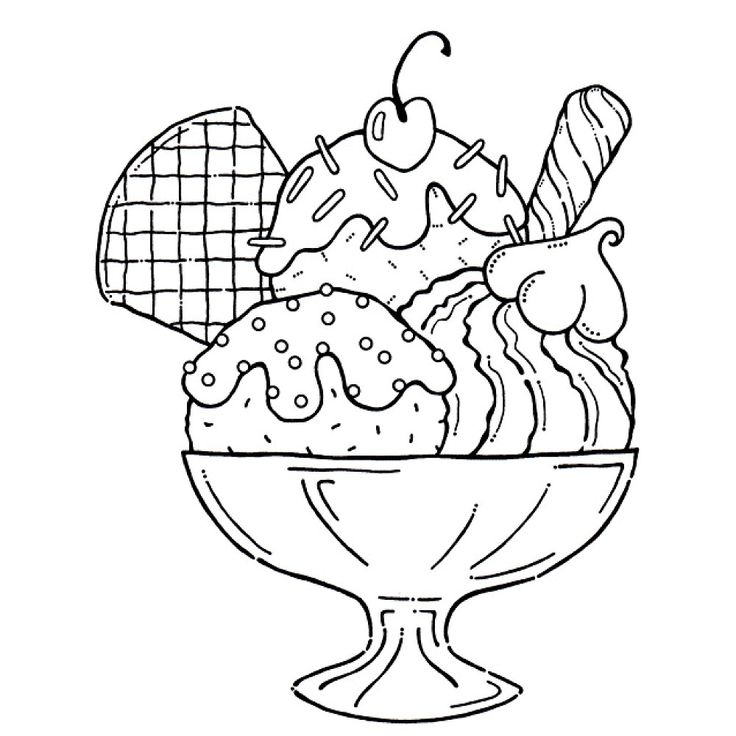 Clipart of ice cream toppings black and white jpg Best Ice Cream Sundae Clipart #24033 - Clipartion.com jpg