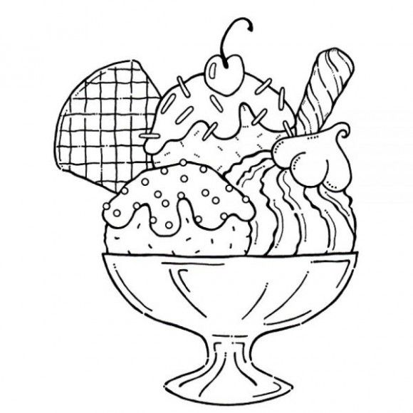 Clipart of ice cream toppings black and white banner freeuse download Cool Ice Cream Coloring Pages Ideas | Coloring Pages For Kids | Ice ... banner freeuse download