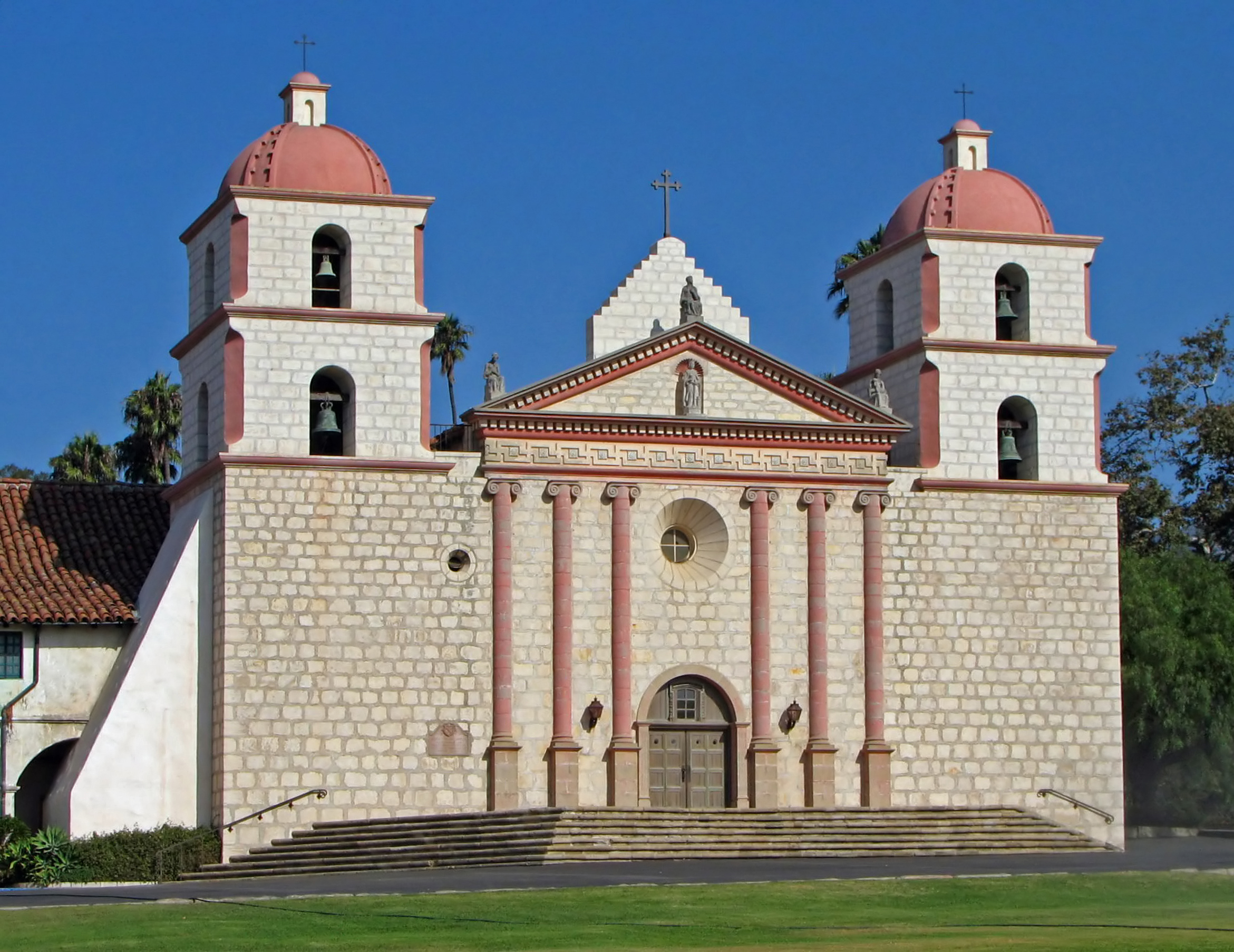 Clipart of indians on a california mission svg download Mission Santa Barbara - Wikipedia svg download