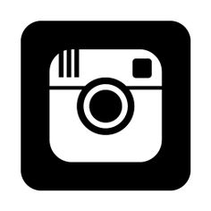 Clipart of instagram icon image black and white library Instagram clipart white - ClipartFest image black and white library