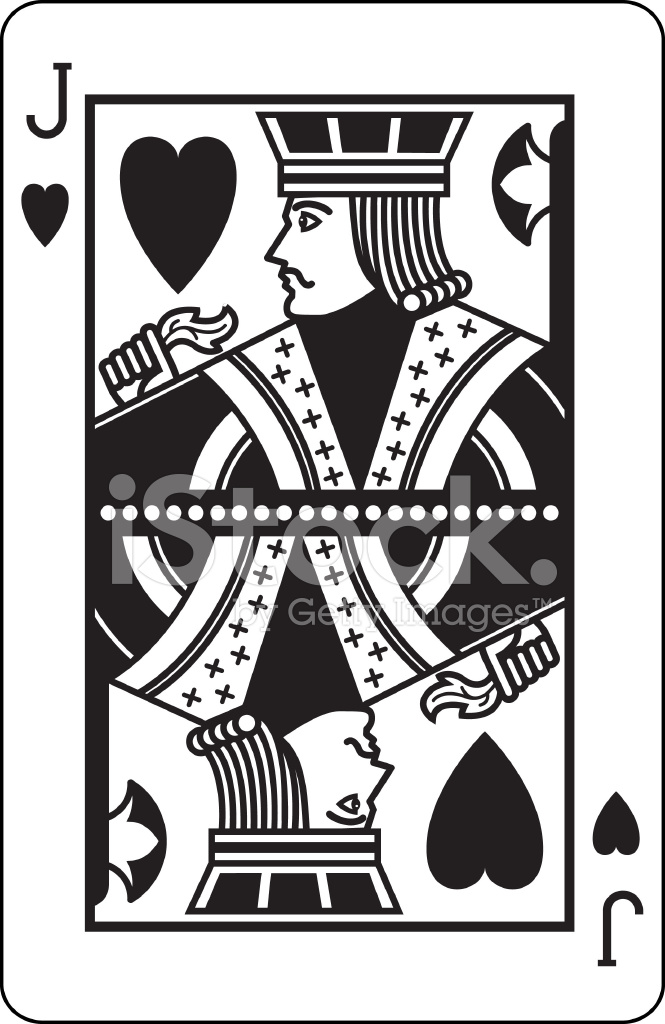 Clipart of jack of hearts card jpg black and white library Jack of Hearts Black Stock Vector - FreeImages.com jpg black and white library