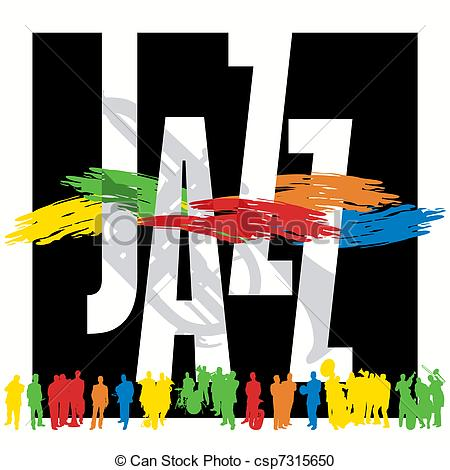Clipart of jazz logo vector free download Vector Clipart of Jazz Poster Template csp7315650 - Search Clip ... vector free download