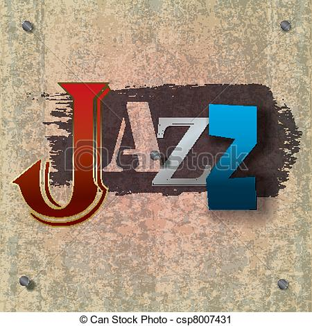 Clipart of jazz logo vector library stock Vector Clip Art of Abstract jazz music background - Abstract ... vector library stock