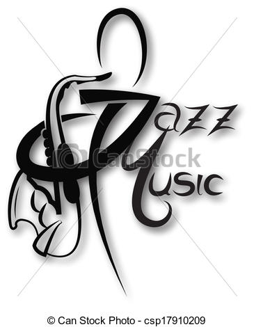 Clipart of jazz logo graphic royalty free library Vector Clipart of Music icon with jazz music inscription can be ... graphic royalty free library