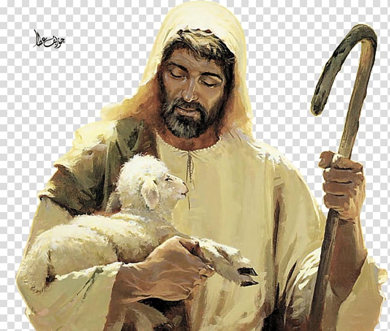 Clipart of jesus christ as a shepherd picture black and white download Jesus is my shepherd illustration, Jesus Sheep Gospel of John Good ... picture black and white download