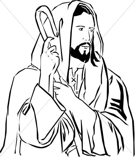 Clipart of jesus christ as a shepherd image transparent stock Christ the Good Shepherd | Jesus Clipart image transparent stock