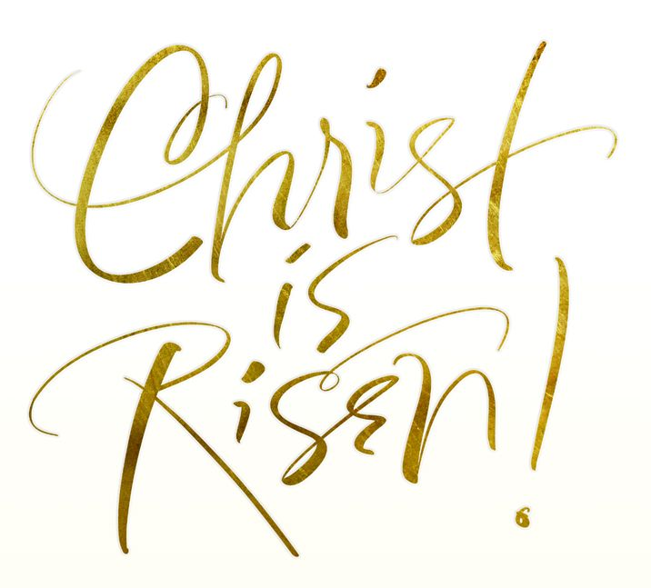 Christ has risen clipart banner black and white library Typography clipart religious #1 | banners | Easter religious, Easter ... banner black and white library