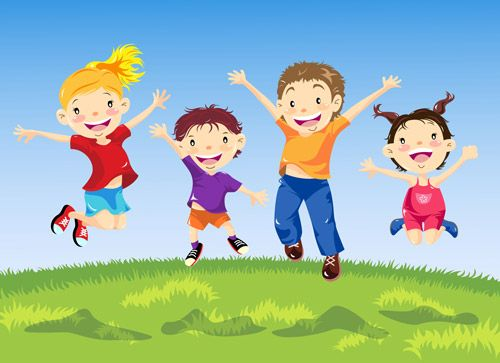 Kids jumping clipart picture black and white library cartoon kids jumping | kids jumping | school | Music for kids ... picture black and white library