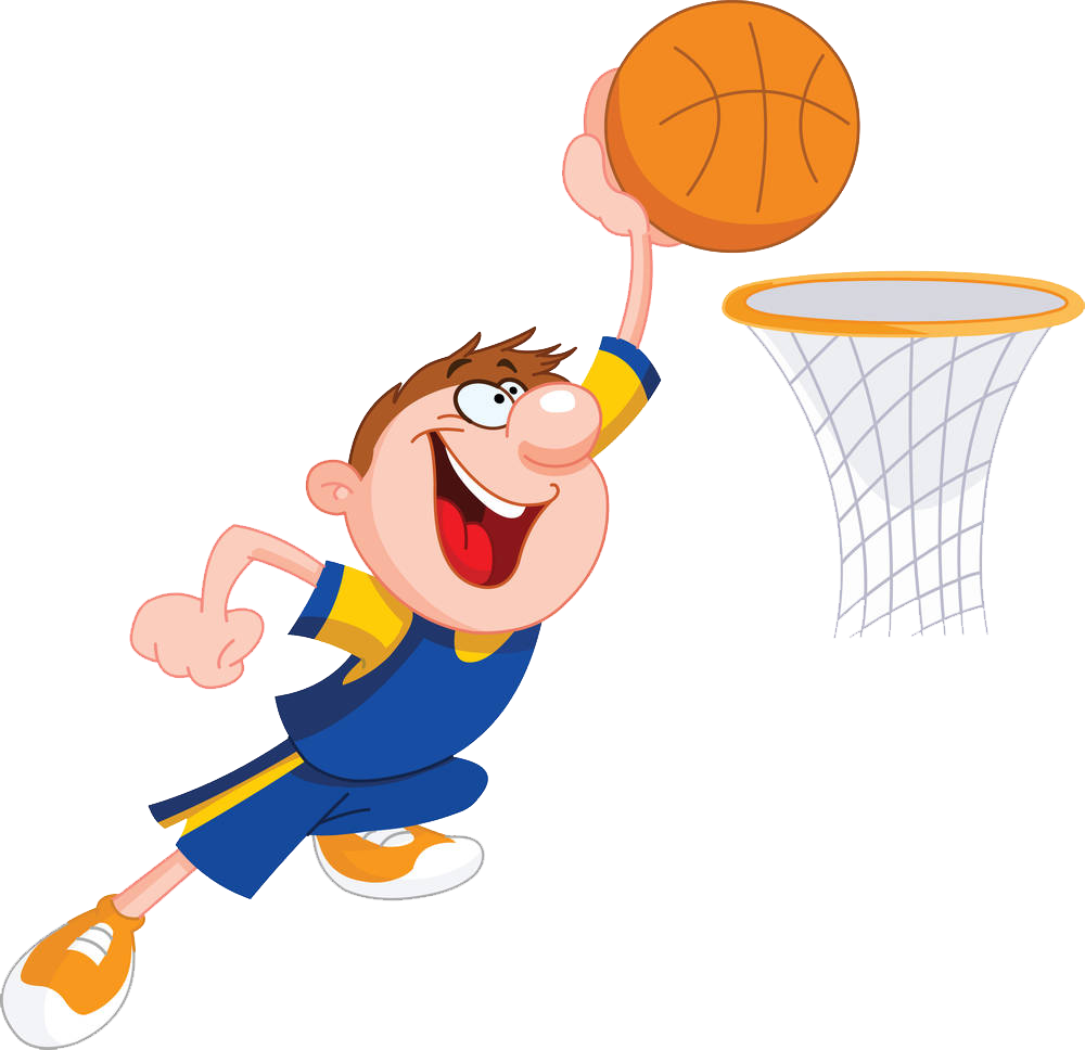 Clipart of kids playing basketball graphic royalty free library Basketball Cartoon Slam dunk Clip art - Basketball kid 1000*968 ... graphic royalty free library