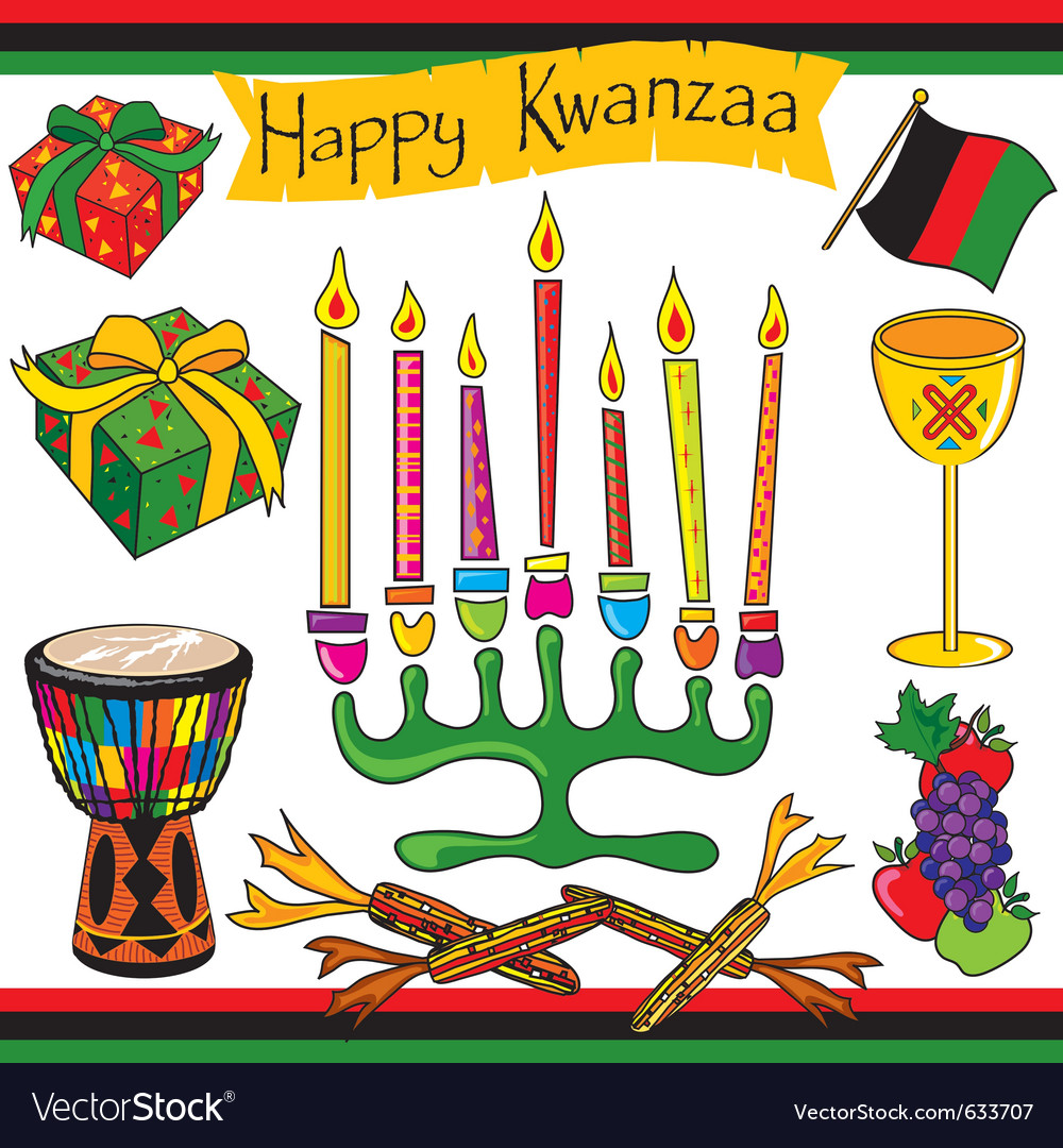 Kwanzaa symbols clipart vector transparent download Kwanzaa clipart elements and icons vector transparent download