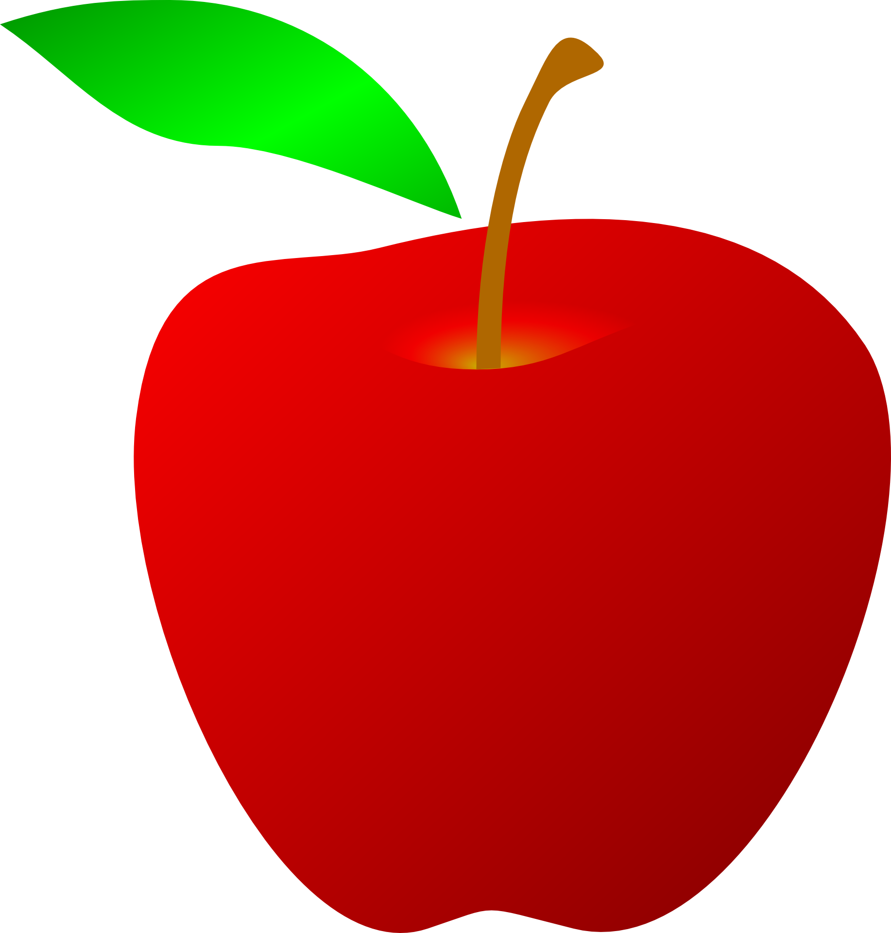 Clipart of leaf and stem of apple clip art library download Drawing of red apple with green leaf free image clip art library download