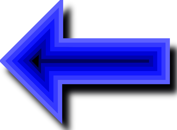 Clipart of left facing arrow vector freeuse stock Left Blue Arrow Clip Art at Clker.com - vector clip art online ... vector freeuse stock