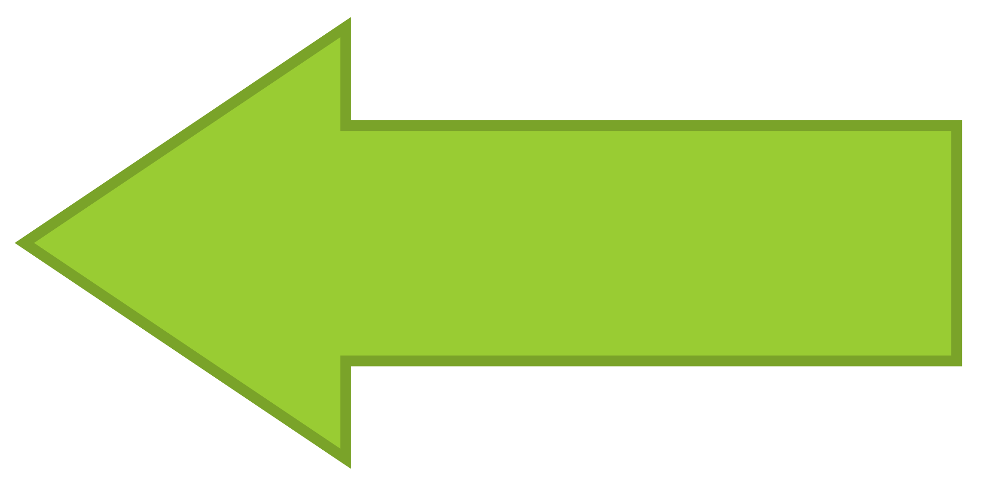 Clipart of left facing arrow svg black and white library File:Arrow facing left - Green.svg - Wikimedia Commons svg black and white library