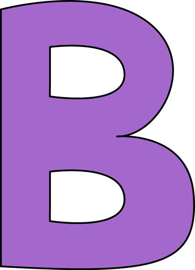 Clipart of letter b clip transparent b | Purple Letter B Clip Art Image - large purple capital letter B ... clip transparent