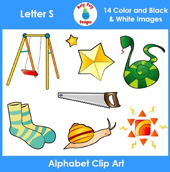Clipart of letter s words clip art royalty free library Letter S Phonics Clip Art Set clip art royalty free library