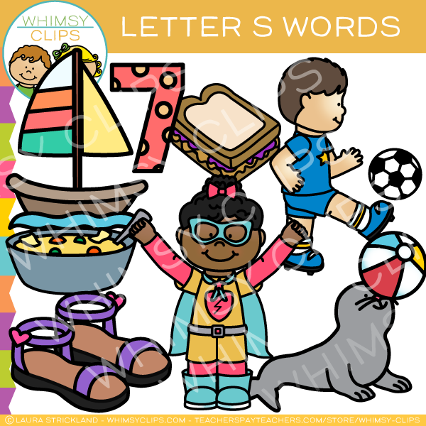 Clipart of letter s words jpg royalty free Letter S Alphabet Clip Art jpg royalty free