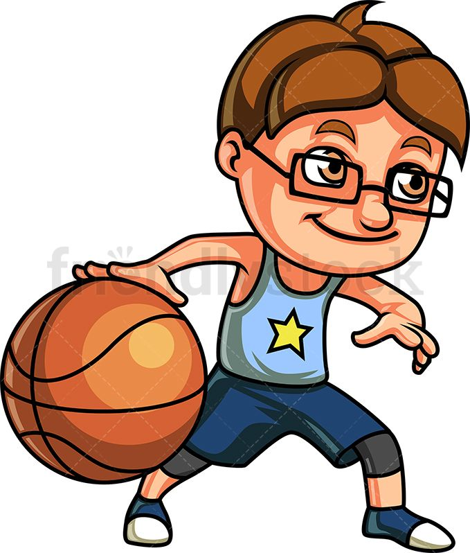 Clipart of little boy with blonde spiked hair jpg library Little Boy Playing Basketball | Kids Clipart in 2019 | Sports ... jpg library