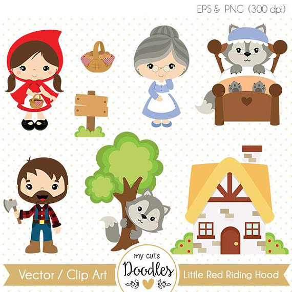 Little red riding hood clipart picture download 50% OFF Little Red Riding Hood vector, Wolf clipart - Commercial use ... picture download