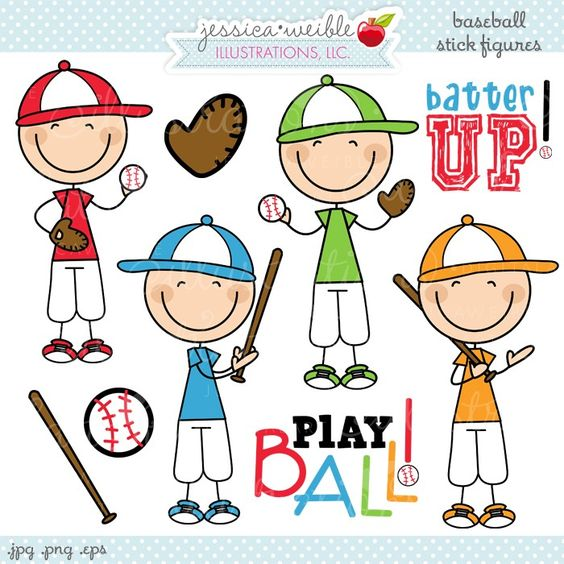Clipart of little red stick people at customer service desk. Baseball figures support d