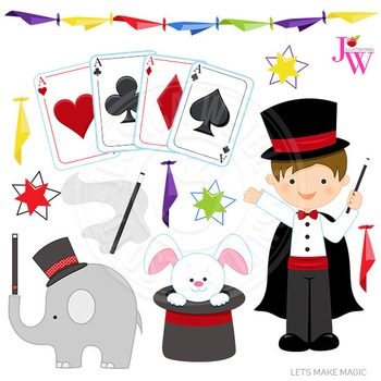 Clipart of magician graphic Lets Make Magic Cute Digital Clipart, Magician Graphics graphic
