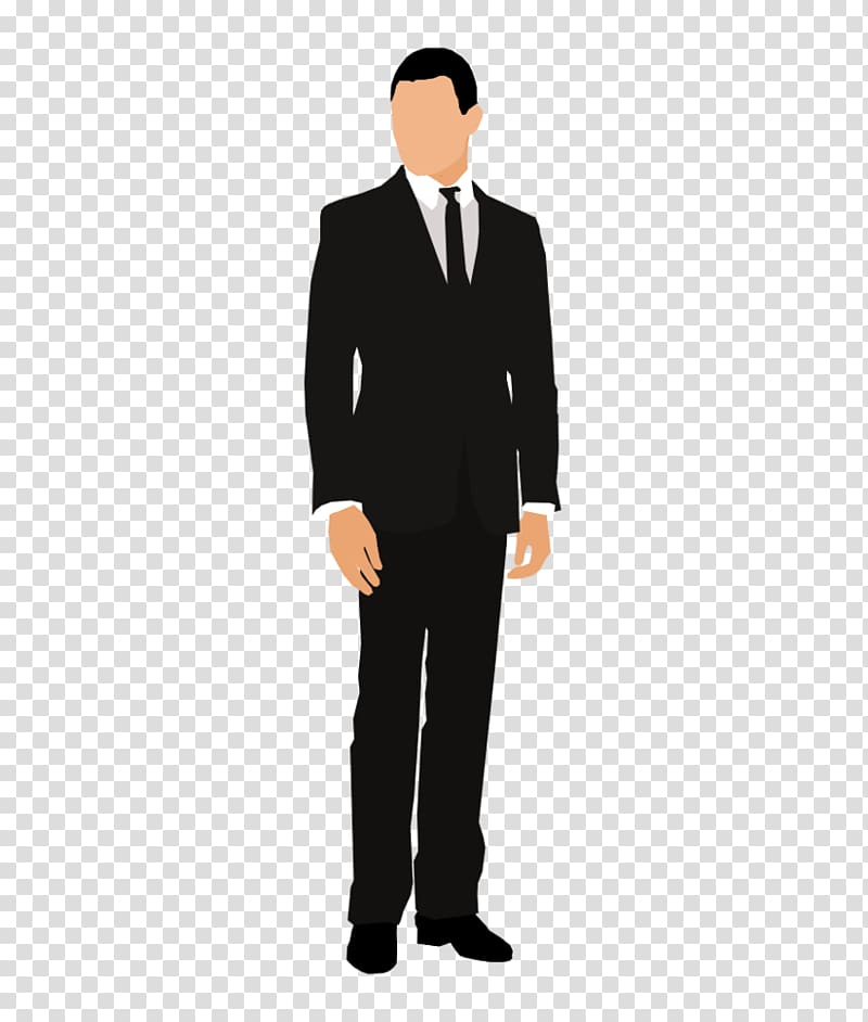 Clipart of man in suit image royalty free Standing man in black suit illustration, Suit Tuxedo Jacket Male ... image royalty free