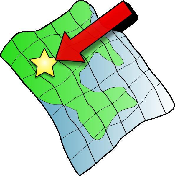 Clipart of map clip art library download Ruffled Map Clip Art at Clker.com - vector clip art online, royalty ... clip art library download