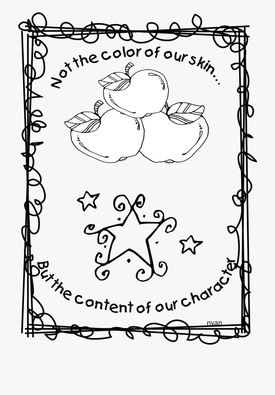 Clipart of martin luther king jr in a circle vector freeuse library Coloring Page Of Martin Luther King Jr Ⓒ - Save Energy Save Earth ... vector freeuse library