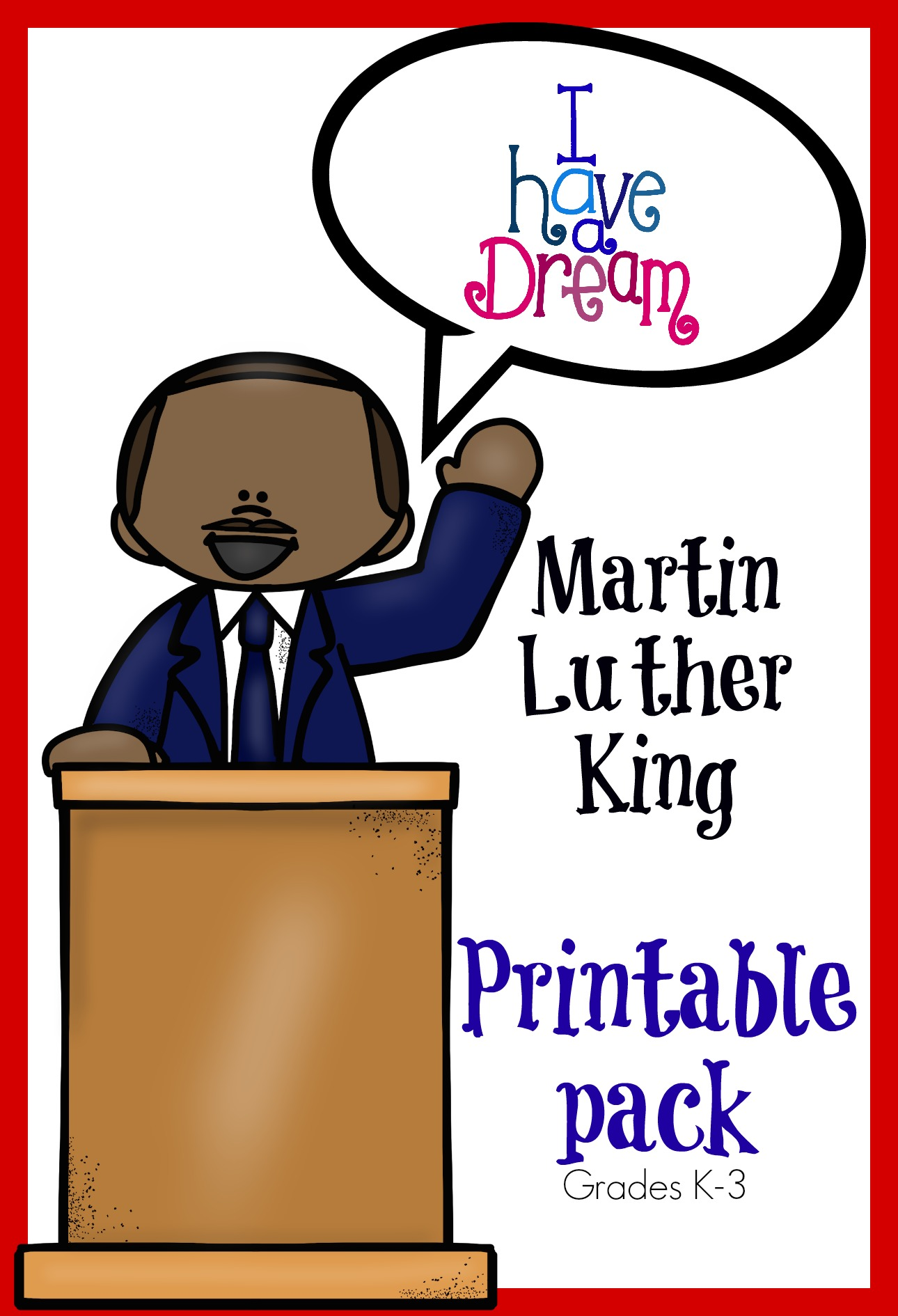 Clipart of martin luther king jr in a circle clip transparent download Martin Luther King Jr. Memory Pack clip transparent download