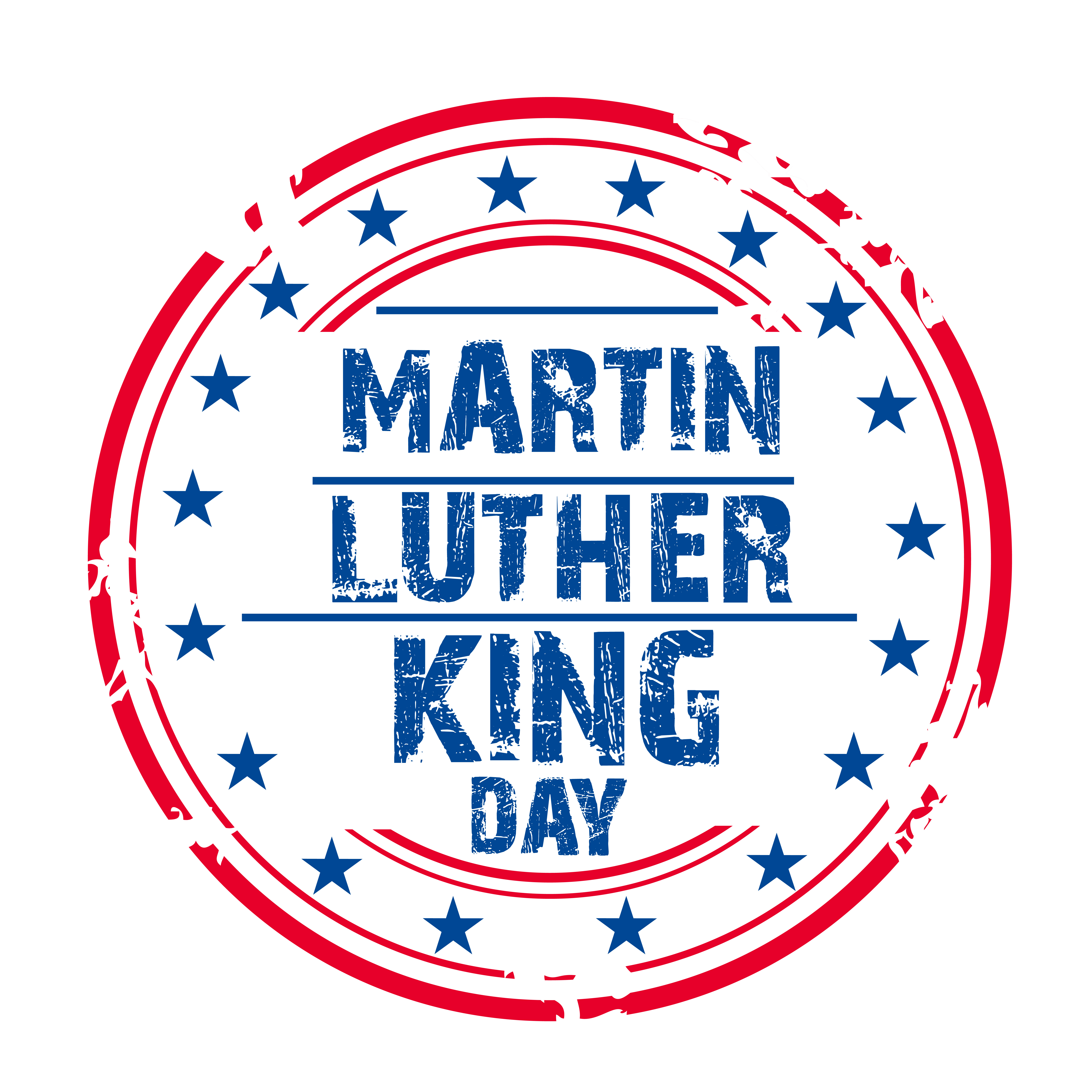 Clipart of martin luther king jr in a circle svg black and white 37th MLK Day Celebration – AM 880 KIXI svg black and white