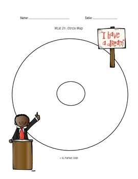 Clipart of martin luther king jr in a circle image freeuse download Martin Luther King Jr. Circle Map   I Heart Teaching   Circle map ... image freeuse download
