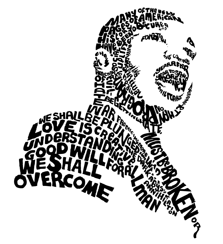 Clipart of martin luther king jr in a circle clip art black and white download MLK March/Parade San Francisco — Middle Circle clip art black and white download
