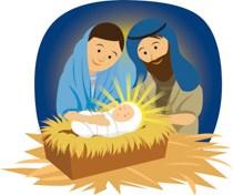 Clipart of mary joseph and baby jesus jpg Mary joseph and baby jesus in manger » Clipart Portal jpg