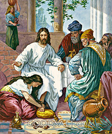 Clipart of mary washing jesus feet graphic royalty free Pictures of mary anoints jesus feet - 14 images graphic royalty free