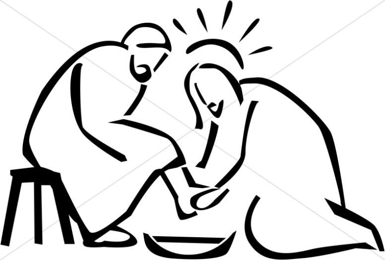 Clipart of mary washing jesus feet svg transparent stock Feet of jesus clipart - ClipartFest svg transparent stock