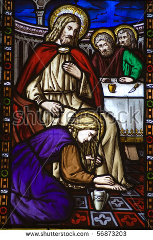 Clipart of mary washing jesus feet vector royalty free download Mary Magdalene Stock Images, Royalty-Free Images & Vectors ... vector royalty free download
