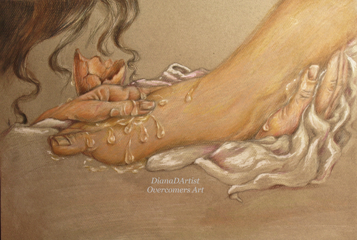 Clipart of mary washing jesus feet clipart free Perfume mary jesus feet clipart pictures - ClipartFox clipart free