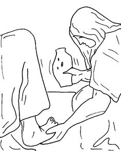 Clipart of mary washing jesus feet picture royalty free stock Free clipart for annointing jesus feet - ClipartFox picture royalty free stock