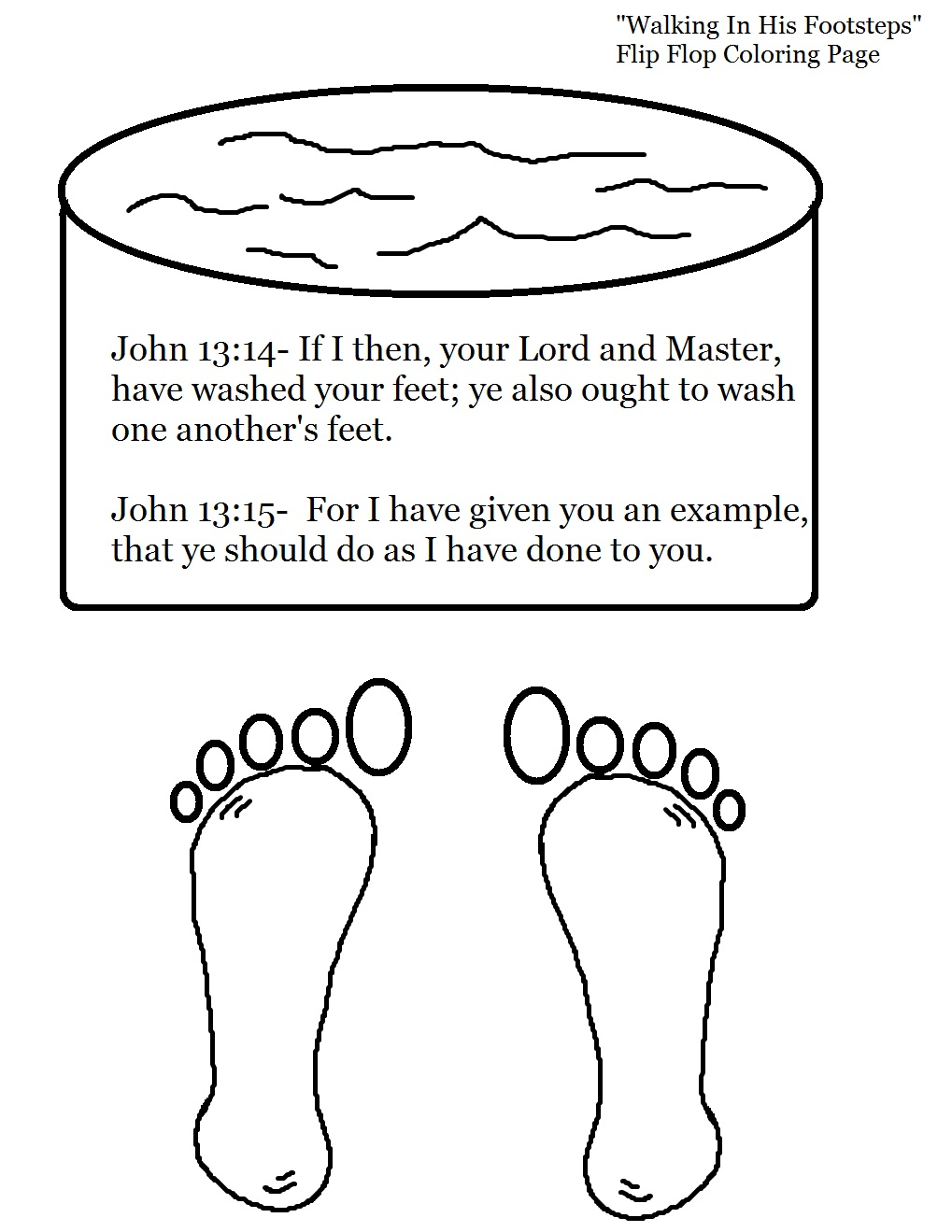 Clipart of mary washing jesus feet clipart black and white Footsteps Of Jesus Clipart - Clipart Kid clipart black and white