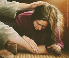 Clipart of mary washing jesus feet png download Clipart of mary washing jesus feet - ClipartFest png download