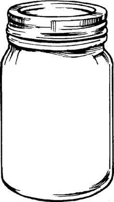 Clipart of mason jars image black and white stock Pin by nada on Art | Mason jar clip art, Mason jars, Jar crafts image black and white stock