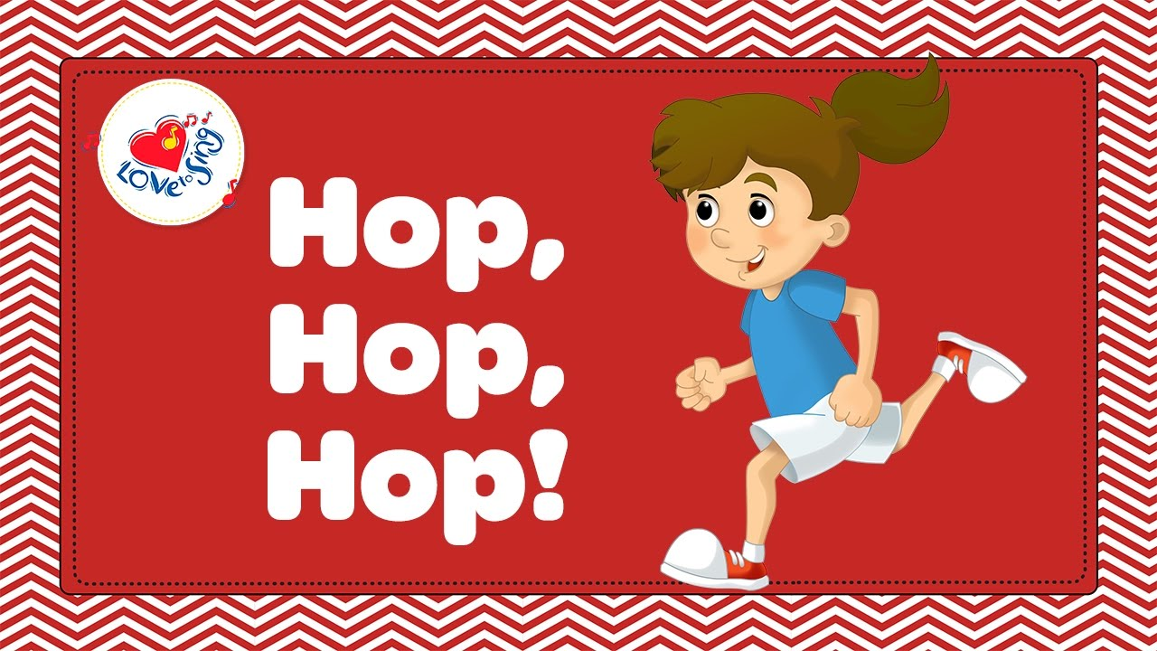 Simple hop clipart svg stock Hop Hop Hop | Kids Fitness and Exercise Song with Lyrics | Children Love to  Sing svg stock
