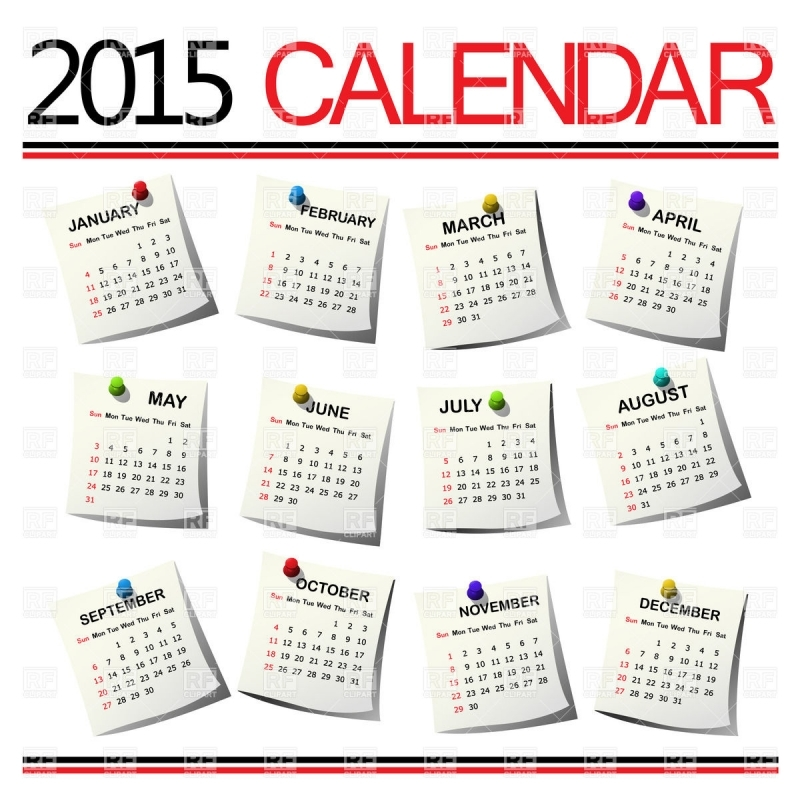 Clipart of monthly calendar. Clip art free template