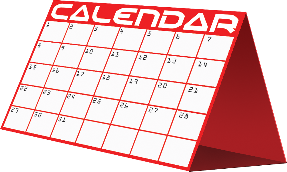 Clipart of monthly calendar. Pictures free download clip